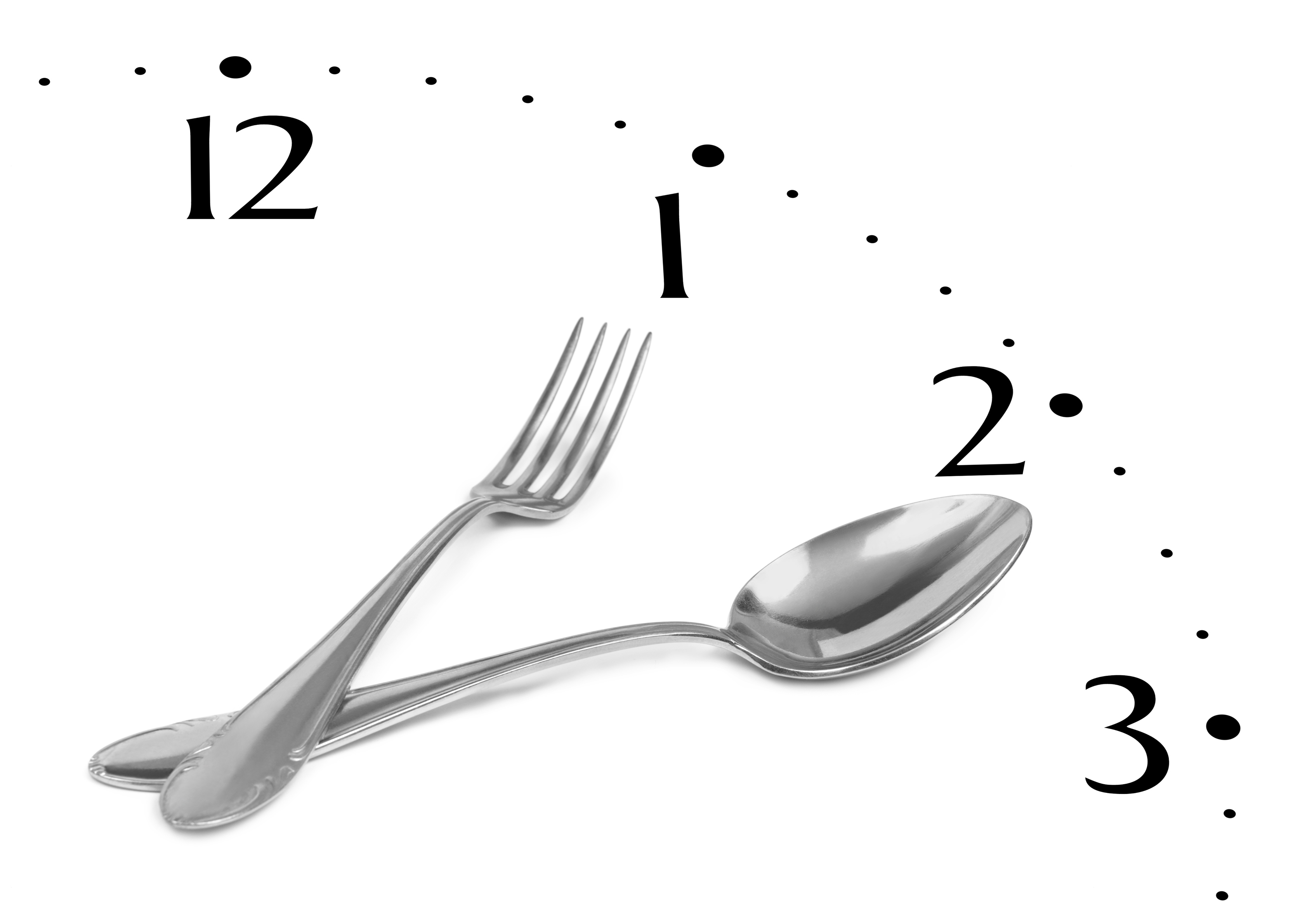 Clock made of fork and spoon